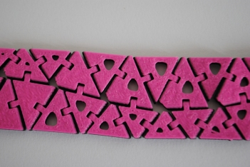 Designed with Nervous System Kinematics Home App | 3D Printed with multiple colours by parametric|art