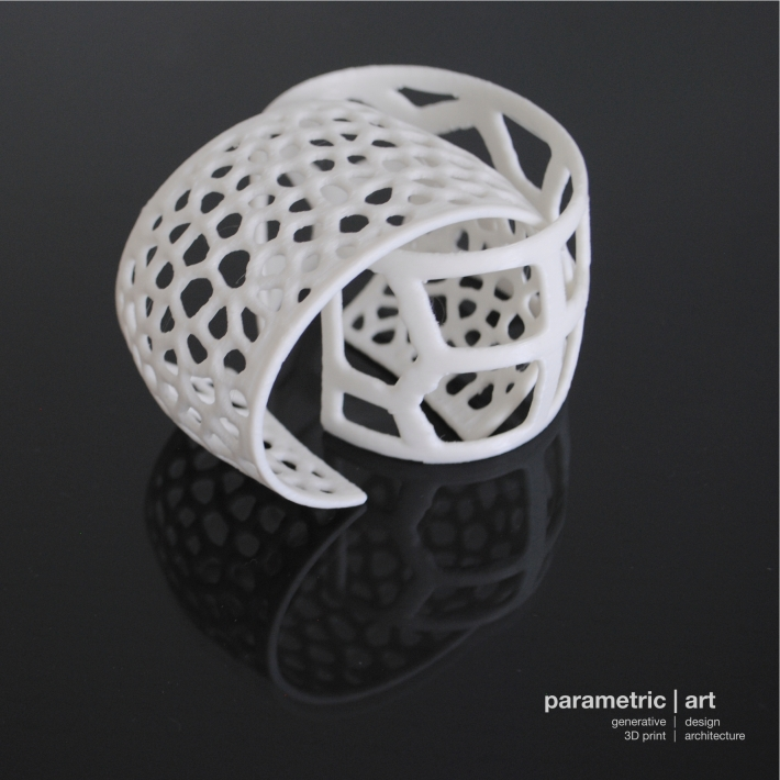 Designed and 3D printed by parametric|art