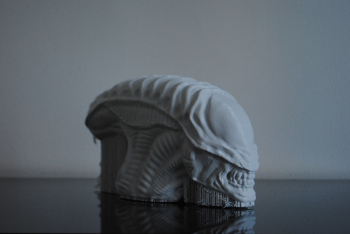 Alien sculpture 3d printed
