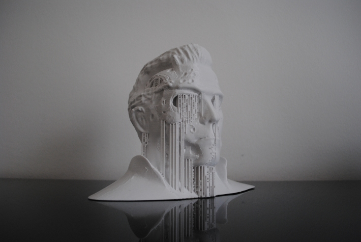 3d printed Terminator sculpture