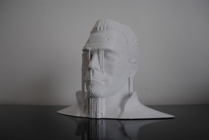 3d printed T800 Arnold Schwarzenegger Terminator sculpture