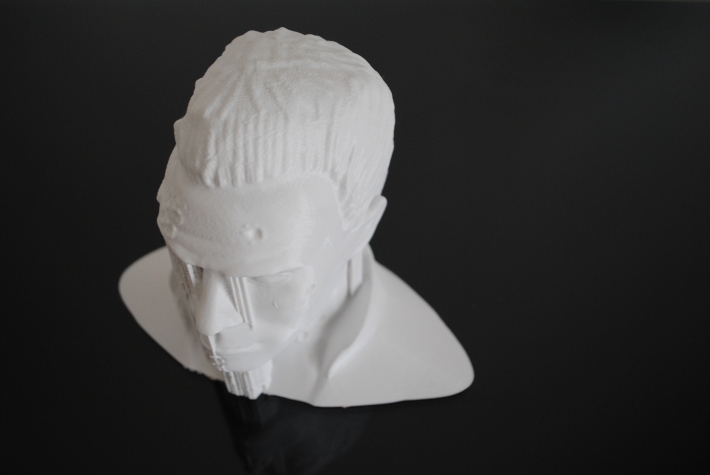 3d printed Terminator sculpture form above