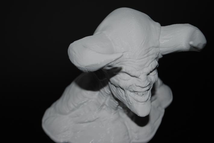 3d printed Diablo sculpture for Halloween