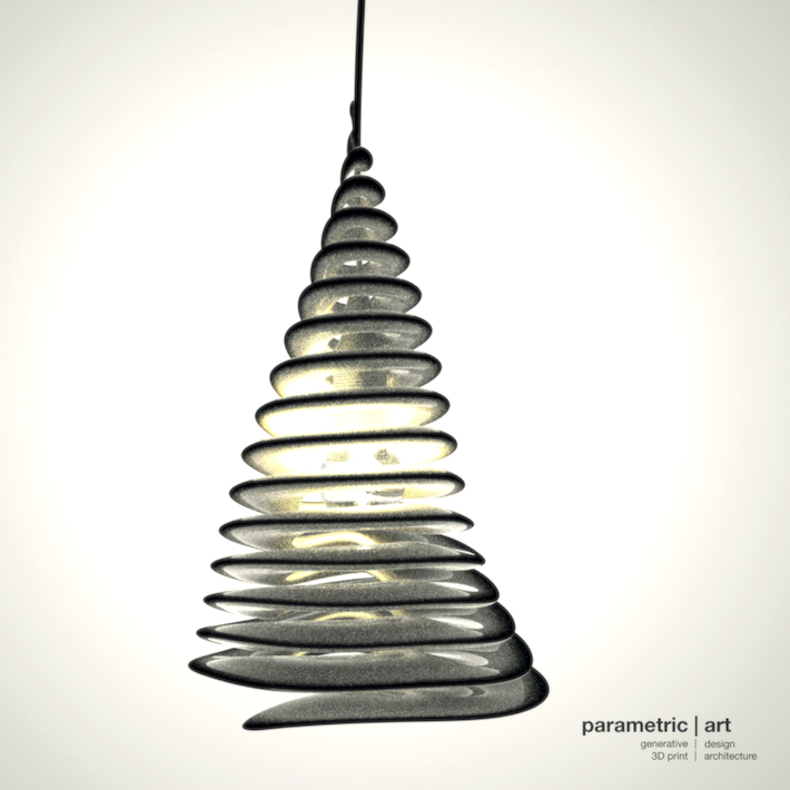 spiral lamp by parametric | art